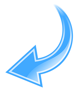 Arrow Curved Blue2